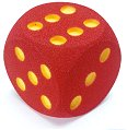 Giant Foam Dice from Plastics for Games